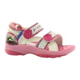 Vaaleanpunaiset sandaalit lasten kengät Rider 80608: lle ['vaaleanpunaiset sävyt', 'harmaan ja hopean sävyt', 'biel']