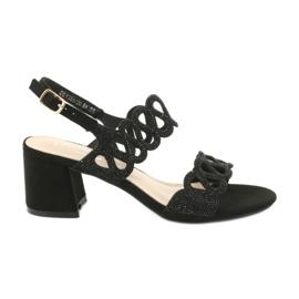 Mustat sandaalit kuutio zirkoniumoksidilla Filippo DS1355 / 20 BK