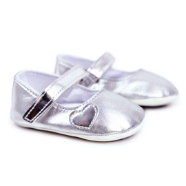Apawwa Kaste vauvan tarranauhakengät Bellawa hopea harmaa
