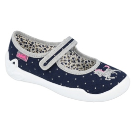 Befado lasten kengät 114X414 laivasto harmaa