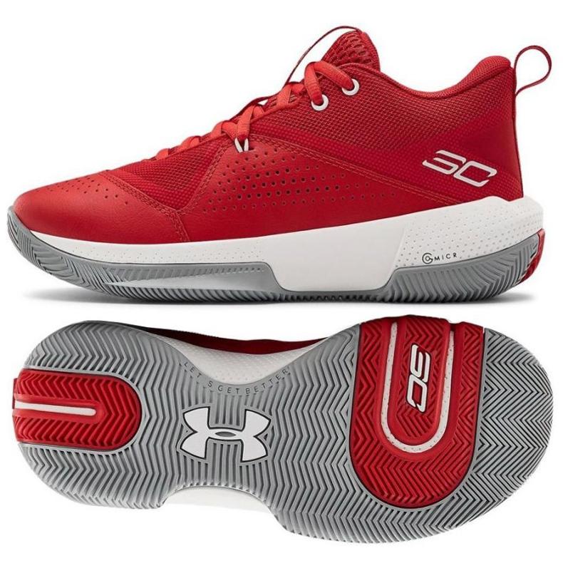 Under Armour Gs Sc 3Zero Iv Boys Jr 3023918-600 koripallokengät monivärinen punainen
