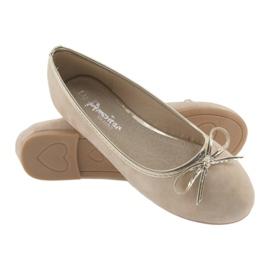 Ballerinas-tyttöjen American Club LU17 beige 4