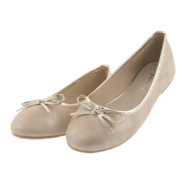Ballerinas-tyttöjen American Club LU17 beige 3
