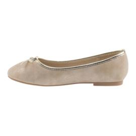 Ballerinas-tyttöjen American Club LU17 beige 2