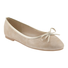 Ballerinas-tyttöjen American Club LU17 beige 1