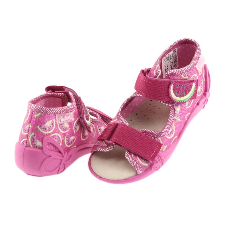 Pinkki Befado keltainen lasten kengät 342P004 kuva 5