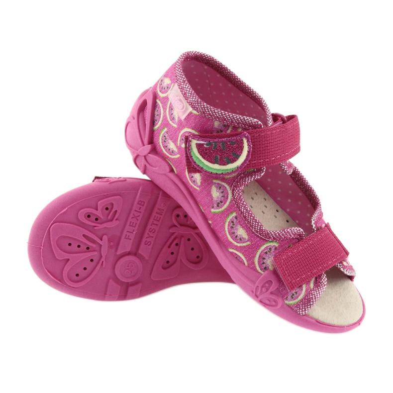 Pinkki Befado keltainen lasten kengät 342P004 kuva 4