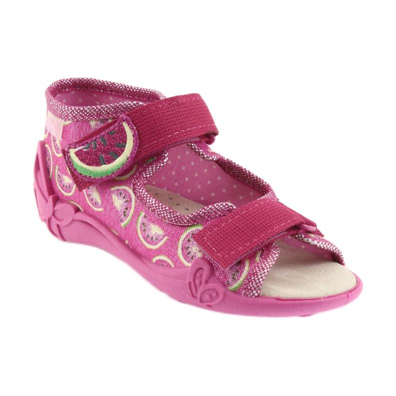 Pinkki Befado keltainen lasten kengät 342P004 kuva 2