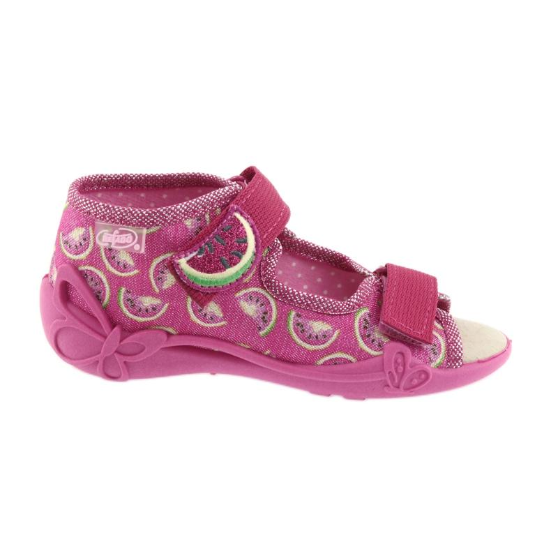 Pinkki Befado keltainen lasten kengät 342P004 kuva 1