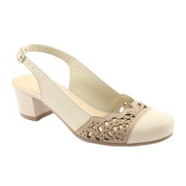 Gregors 771 beige naisten sandaalit ruskea 1