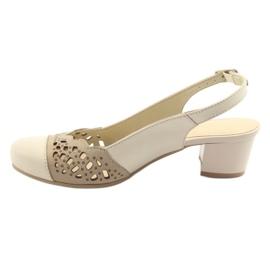 Gregors 771 beige naisten sandaalit ruskea 2