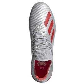 Jalkapallokengät adidas X 19.1 Tf M G25752 punainen, harmaa / hopea hopea 2