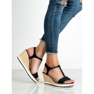 Anesia Paris Vaalean laivastonsiniset sandaalit sininen 4