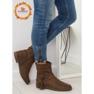 Ruskeat naisten kengät 4169 Khaki kuva 1