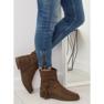 Ruskeat naisten kengät 4169 Khaki kuva 5