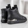 SHELOVET Nauhoilla varustetut kengät musta 2