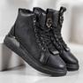 SHELOVET Nauhoilla varustetut kengät musta 3