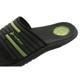 Miesten uima-allas tossut Rider 82735 musta / vihreä 4