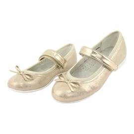 Kultaiset ballerinat American Club -jousella GC02 / 20 keltainen 3
