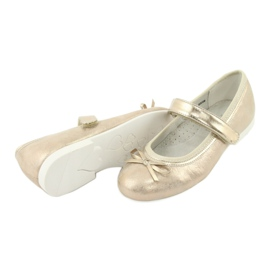 Kultaiset ballerinat American Club -jousella GC02 / 20 keltainen 4