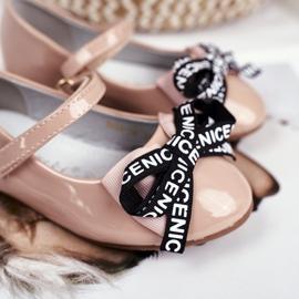 S.Barski Bar Beige Lasten Ballerinat Mindi Velcro ruskea 4