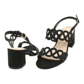 Mustat sandaalit kuutio zirkoniumoksidilla Filippo DS1355 / 20 BK 3