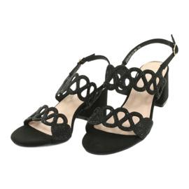 Mustat sandaalit kuutio zirkoniumoksidilla Filippo DS1355 / 20 BK 2
