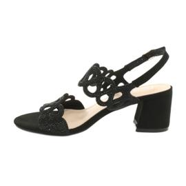 Mustat sandaalit kuutio zirkoniumoksidilla Filippo DS1355 / 20 BK 1