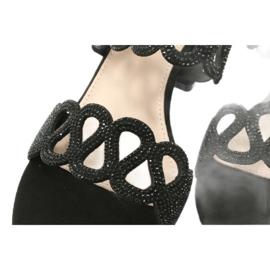 Mustat sandaalit kuutio zirkoniumoksidilla Filippo DS1355 / 20 BK 5