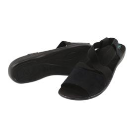 Mukavat mustat naisten sandaalit Adanex 17498 2