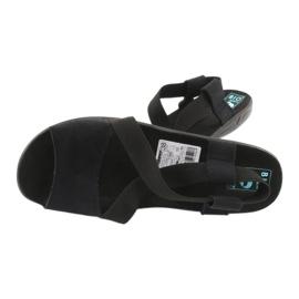Mukavat mustat naisten sandaalit Adanex 17498 3