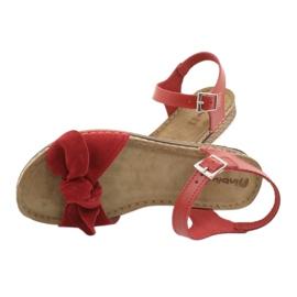 Comfort Inblu naisten kengät 158D117 punainen 5