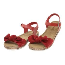 Comfort Inblu naisten kengät 158D117 punainen 3