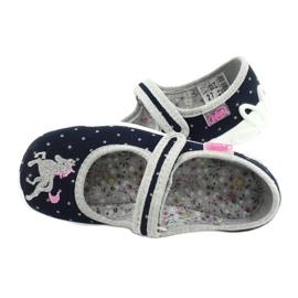 Befado lasten kengät 114X414 laivasto harmaa 5