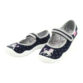 Befado lasten kengät 114X414 laivasto harmaa 3