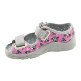 Befado lasten kengät 969X162 pinkki hopea 2