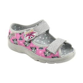 Befado lasten kengät 969X162 pinkki hopea 1