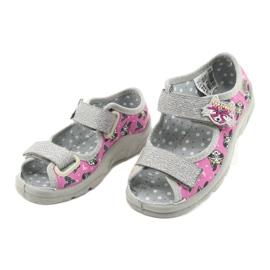 Befado lasten kengät 969X162 pinkki hopea 3