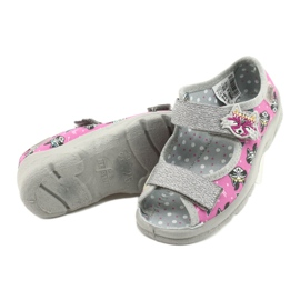 Befado lasten kengät 969X162 pinkki hopea 4