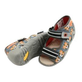 Befado keltaiset lasten kengät 350P016 oranssi harmaa 4