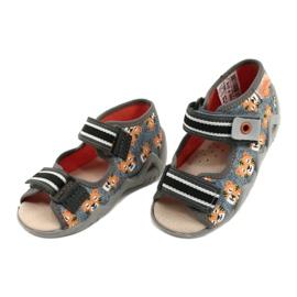 Befado keltaiset lasten kengät 350P016 oranssi harmaa 3