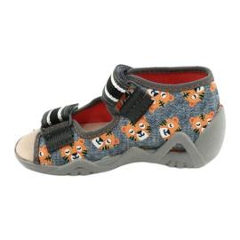 Befado keltaiset lasten kengät 350P016 oranssi harmaa 2