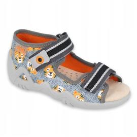 Befado keltaiset lasten kengät 350P016 oranssi harmaa 1
