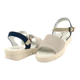 Mukavat sandaalit nahkaa Filippo DS2021 / 21 GR sininen harmaa 2