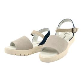 Mukavat sandaalit nahkaa Filippo DS2021 / 21 GR sininen harmaa 1