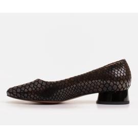 Marco Shoes Käärmeennahkaiset baleriinat, joissa on pyöreä kantapää musta 2