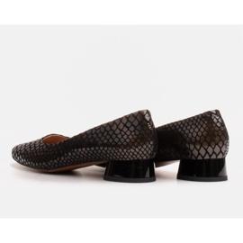 Marco Shoes Käärmeennahkaiset baleriinat, joissa on pyöreä kantapää musta 4
