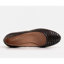 Marco Shoes Käärmeennahkaiset baleriinat, joissa on pyöreä kantapää musta 5