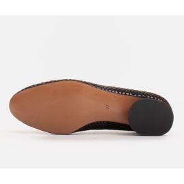 Marco Shoes Käärmeennahkaiset baleriinat, joissa on pyöreä kantapää musta 6
