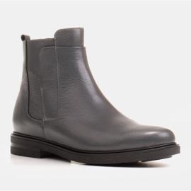 Marco Shoes Kevyet saappaat eristetty tasaisella pohjalla luonnon nahasta harmaa 1